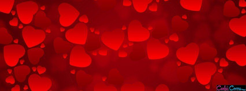 Red Hearts Valentines Day Facebook Covers Profile Background And