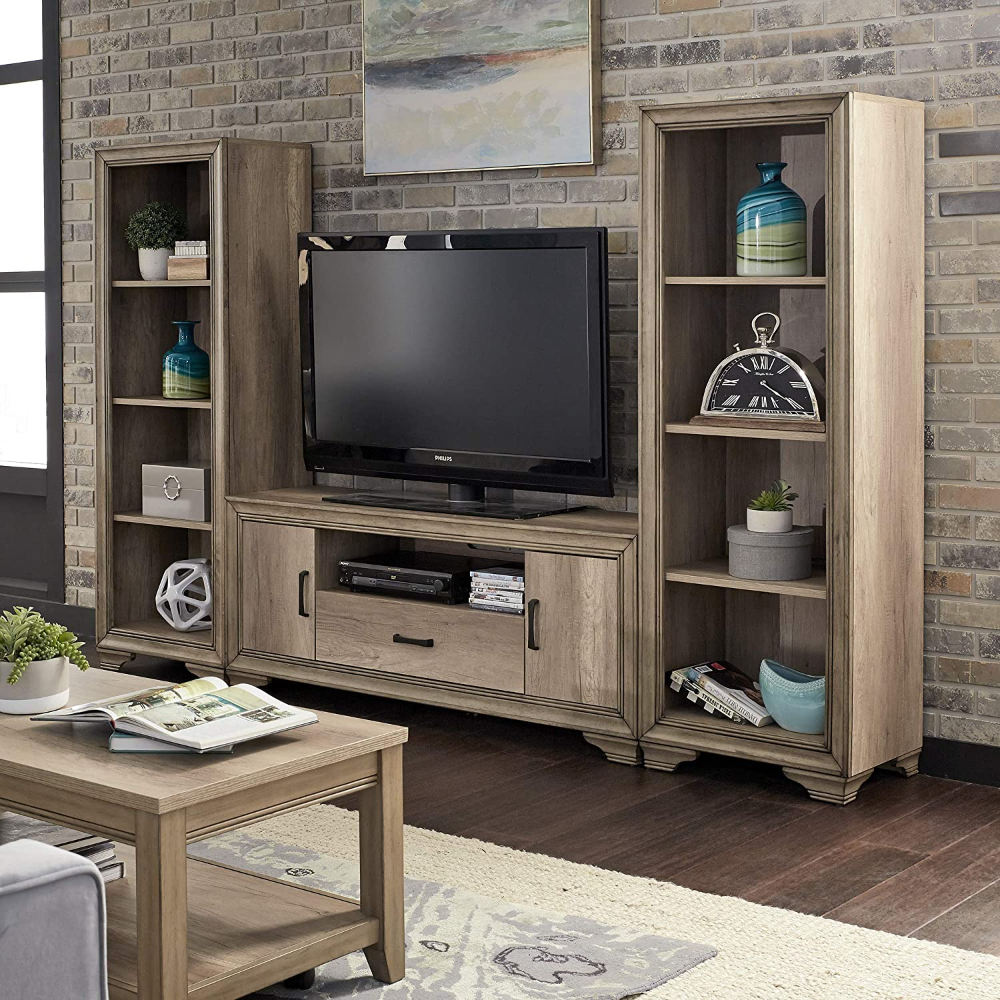 Amazonsmile Liberty Furniture Industries Sun Valley Entertainment Center With Piers Sandstone In 2021 Liberty Furniture Entertainment Center Living Room Wall Units