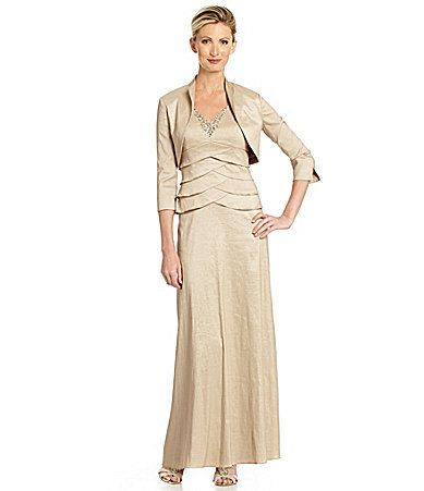 Jessica Howard Stretch Taffeta Jacket Dress | Dillards.com ...