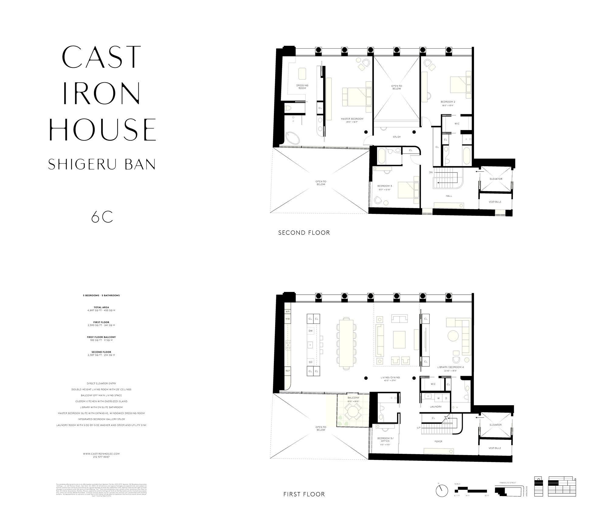 Cast Iron House Shigeru Ban Double Height Lofts 6c Condo Floor Plans It Cast Floor Plans