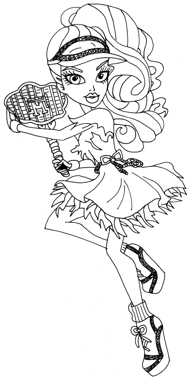 Monster High Spectra Vondergeist ColouringBratzMonster