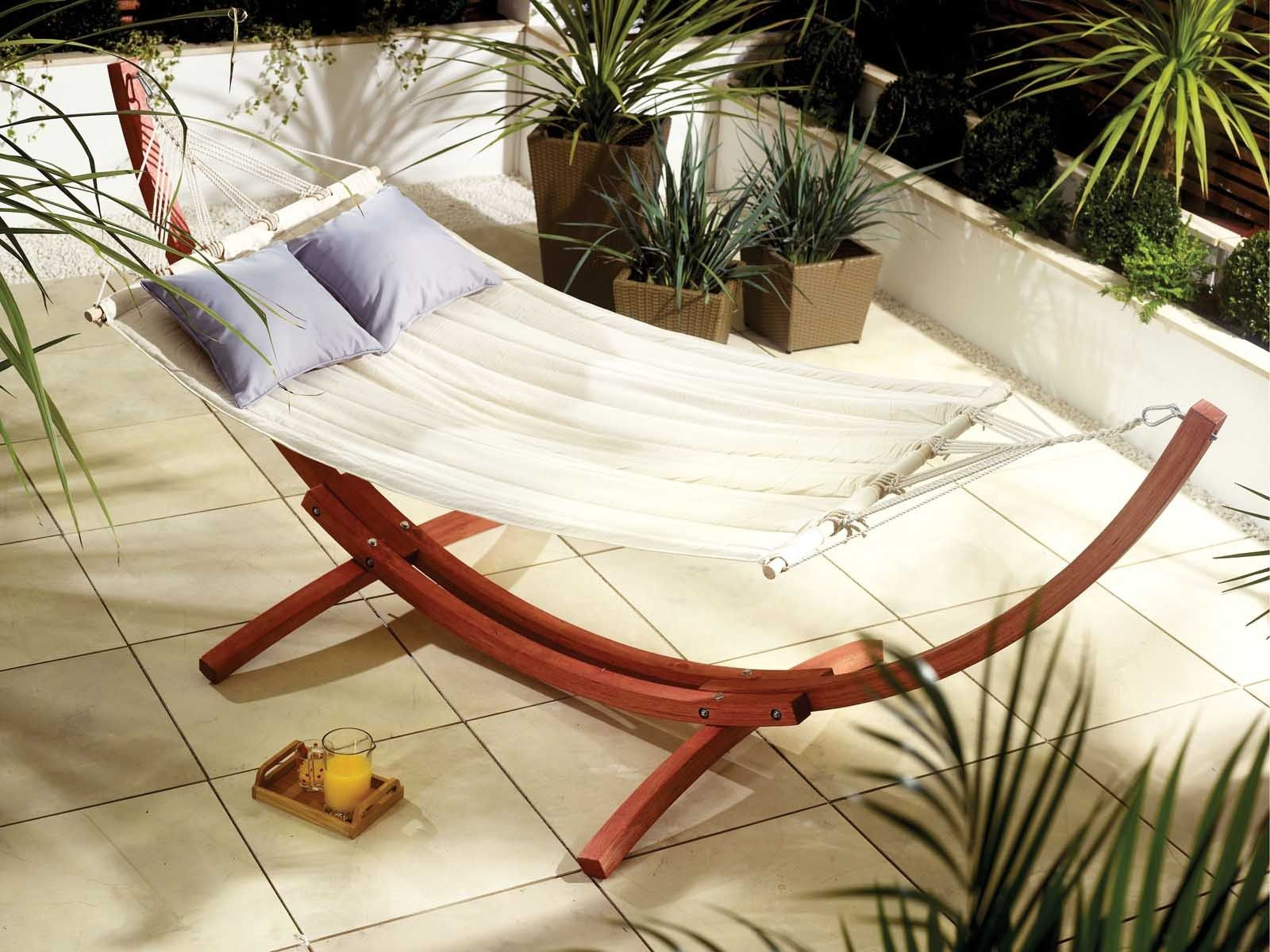 Cream bow hammock sling rattan furniture living it up garden