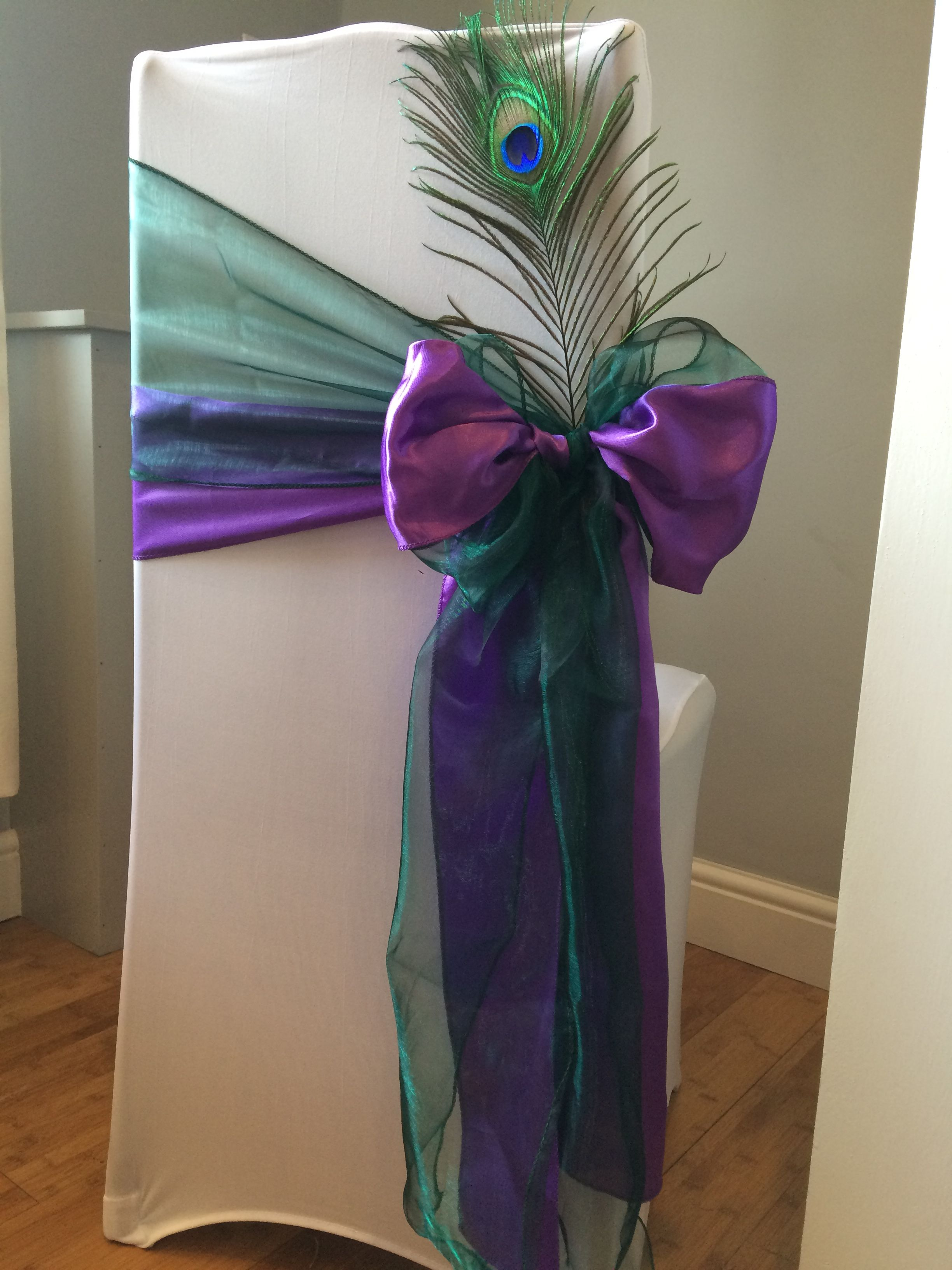 Teal Chair Covers For Wedding Student Desk Combo Peacock Theme Cover Weddings In Wales By