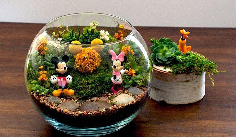 42 Ideas Para Crear Terrarios Plantas Jardines En Miniatura - Terrario-para-plantas