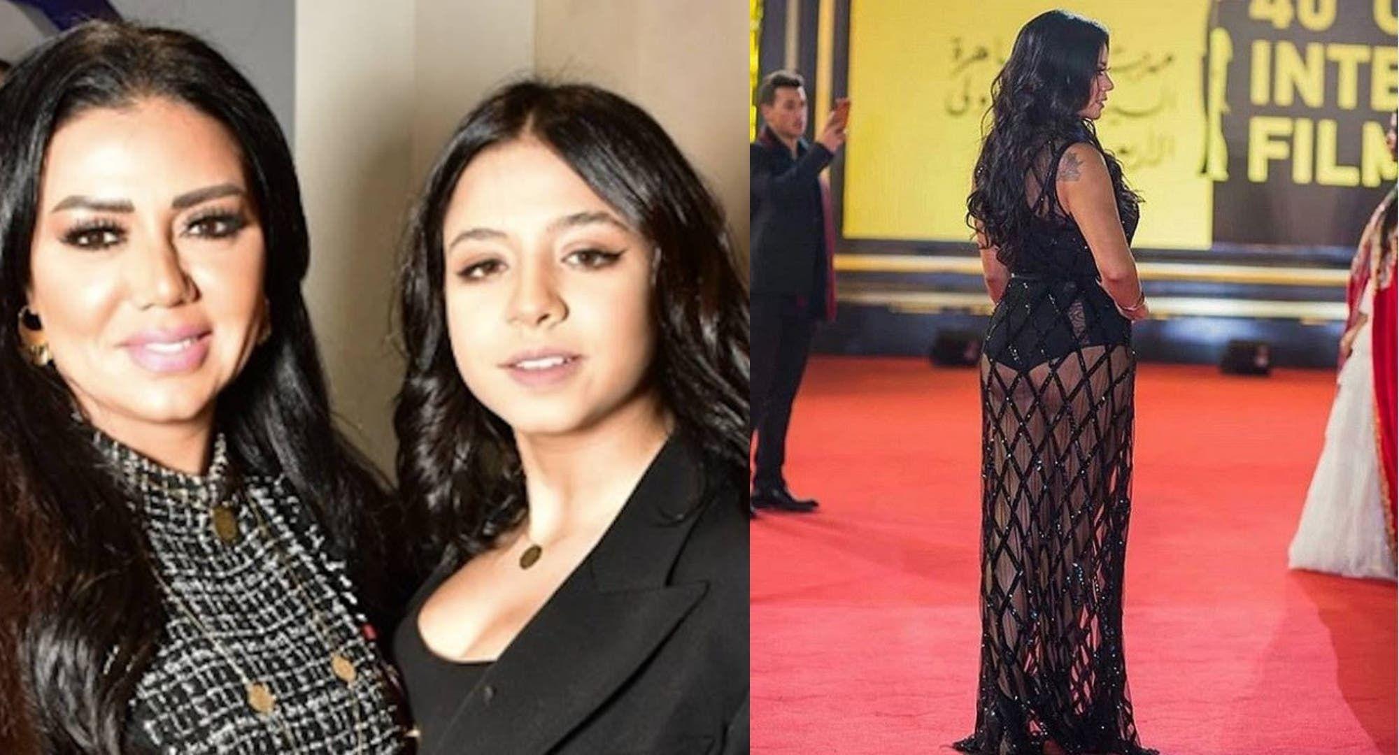 رانيا يوسف تحضر إبنتها إلى مهرجان الجونة السينمائي والأخيرة ترتدي فستان والدتها الشهير بتاع البطانة
