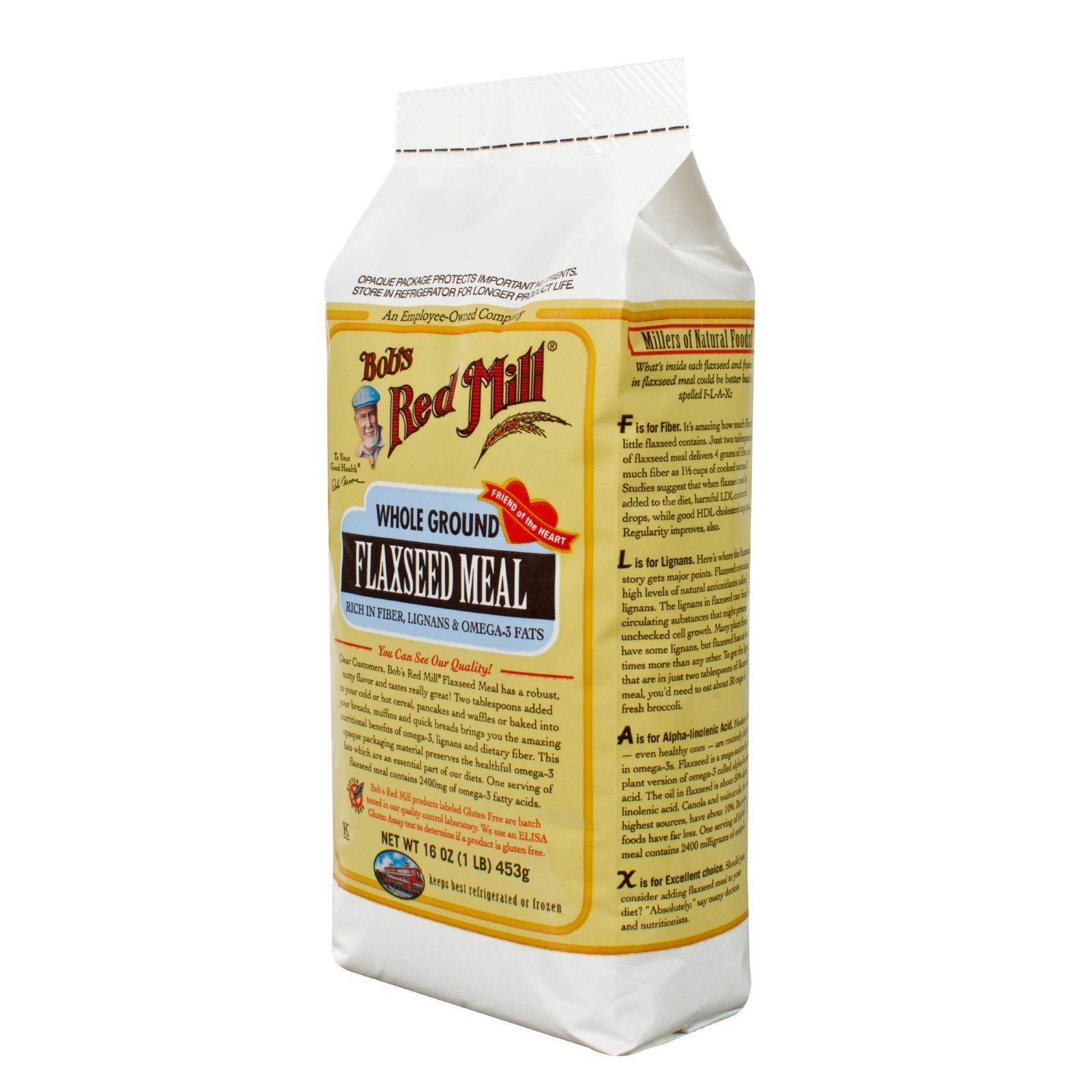 Bob's Red Mill Brown Flaxseed Meal - 16 Oz - Case Of 4 #flaxseedmealrecipes Bob's Red Mill Flaxseed Meal offers a wonderful nutritional boost to almost any recipe. 1800mg of Omega-3 fatty acids, 4g of fiber, and lignans make for a heart-healthy nutritional combination. Mild in flavor and ground for maximum bioavailability of nutrients, Flaxseed Meal can be inconspicuously added to almost any recipe - smoothies, shakes, breads, cookies, pancakes, waffles, and more. Sprinkle on eggs or salad green #flaxseedmealrecipes