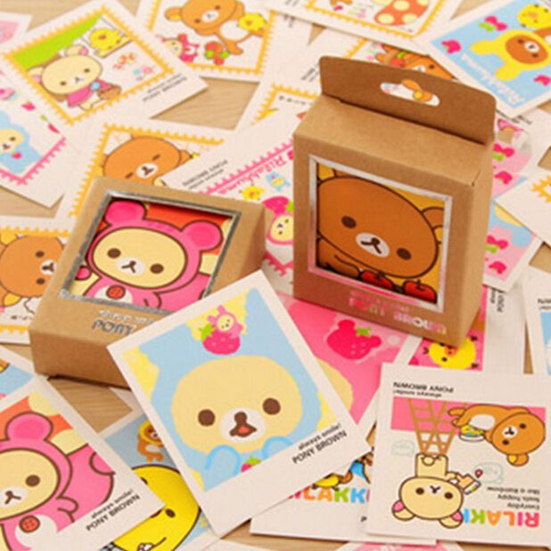 E36 40 pcs mignon kawaii mini rilakkuma lomo diy carte postale cheap letter envelope buy quality envelope gift directly from china envelope card suppliers 40 pcsset colorful rilakkuma single page type greeting cards m4hsunfo