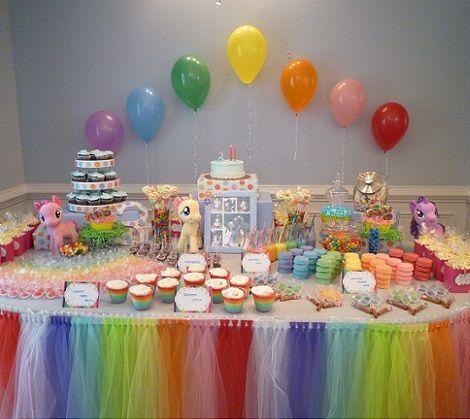 Arreglos de mesa para fiestas de little pony - Imagui