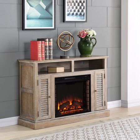 Wiltshire Electric Fireplace Tv Stand For Tv S Up To 46 Inch Burnt