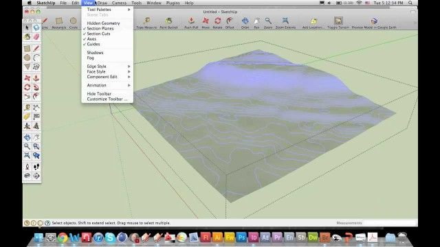 Create Contour Lines In Sketchup From Google Terrain Tutorials