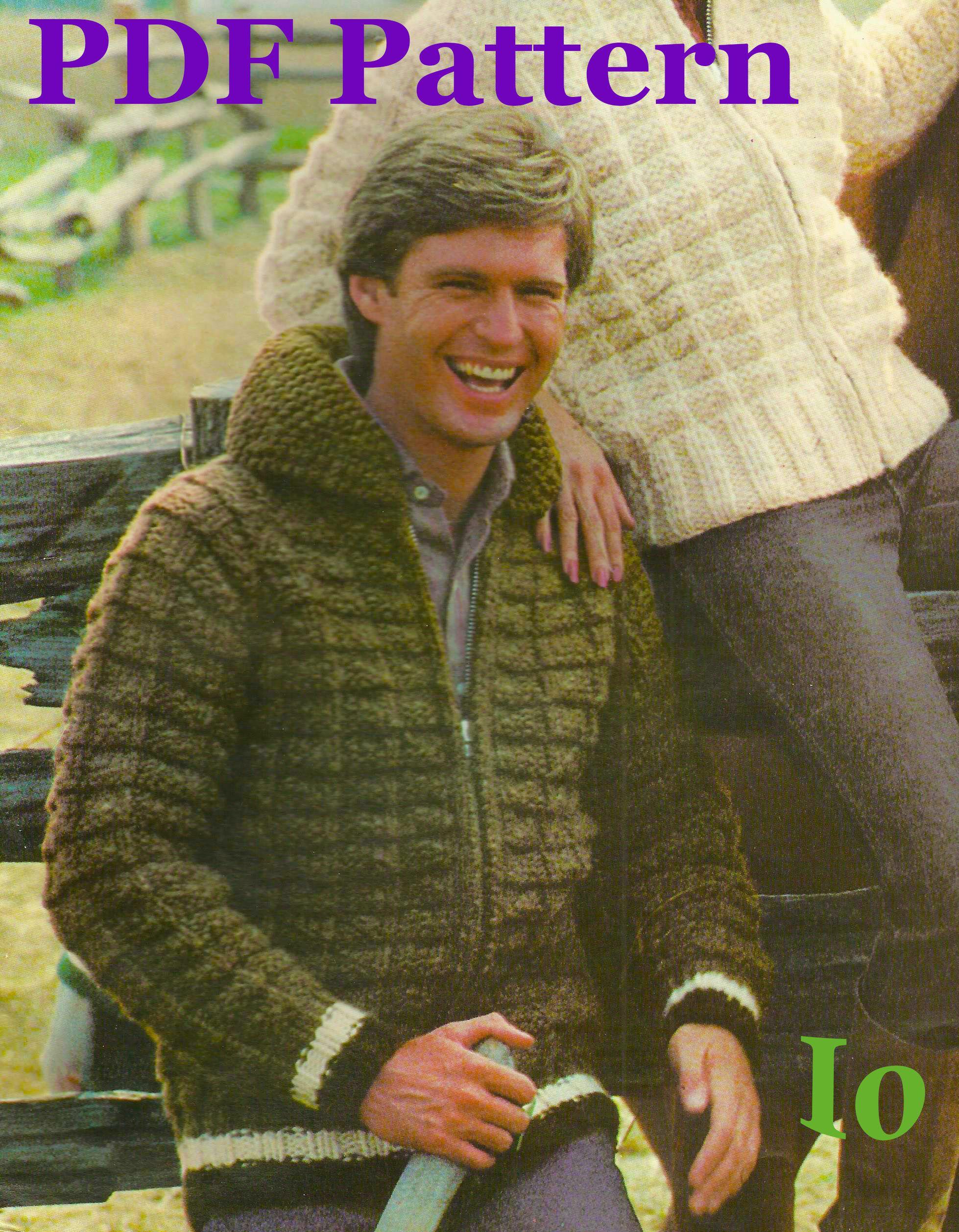 Vintage knitting pattern white buffalo zip up jacket textured vintage knitting pattern white buffalo zip up jacket textured cardigan men bankloansurffo Choice Image