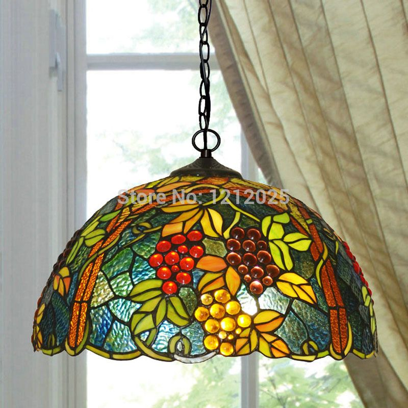 Stained Glass Lamps Fused Tiffany Hanging Art Chandelier Modern Kitchens Windows