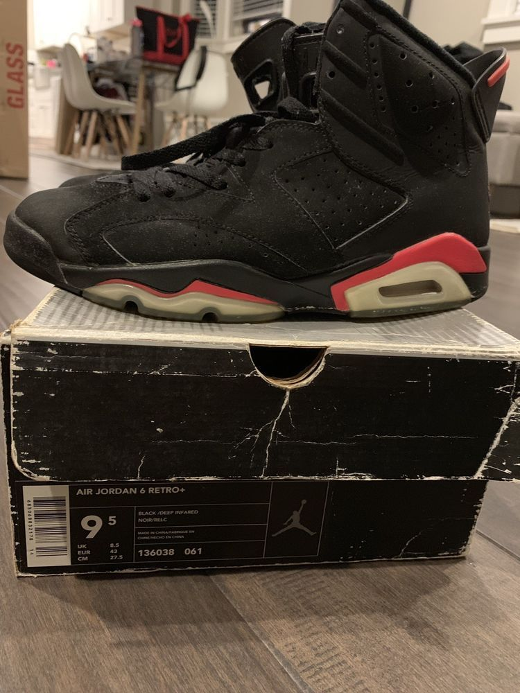 d4b69d8ddc7f4f eBay  Sponsored 2000 Nike Air Jordan VI 6 Retro Black Infrared Size ...