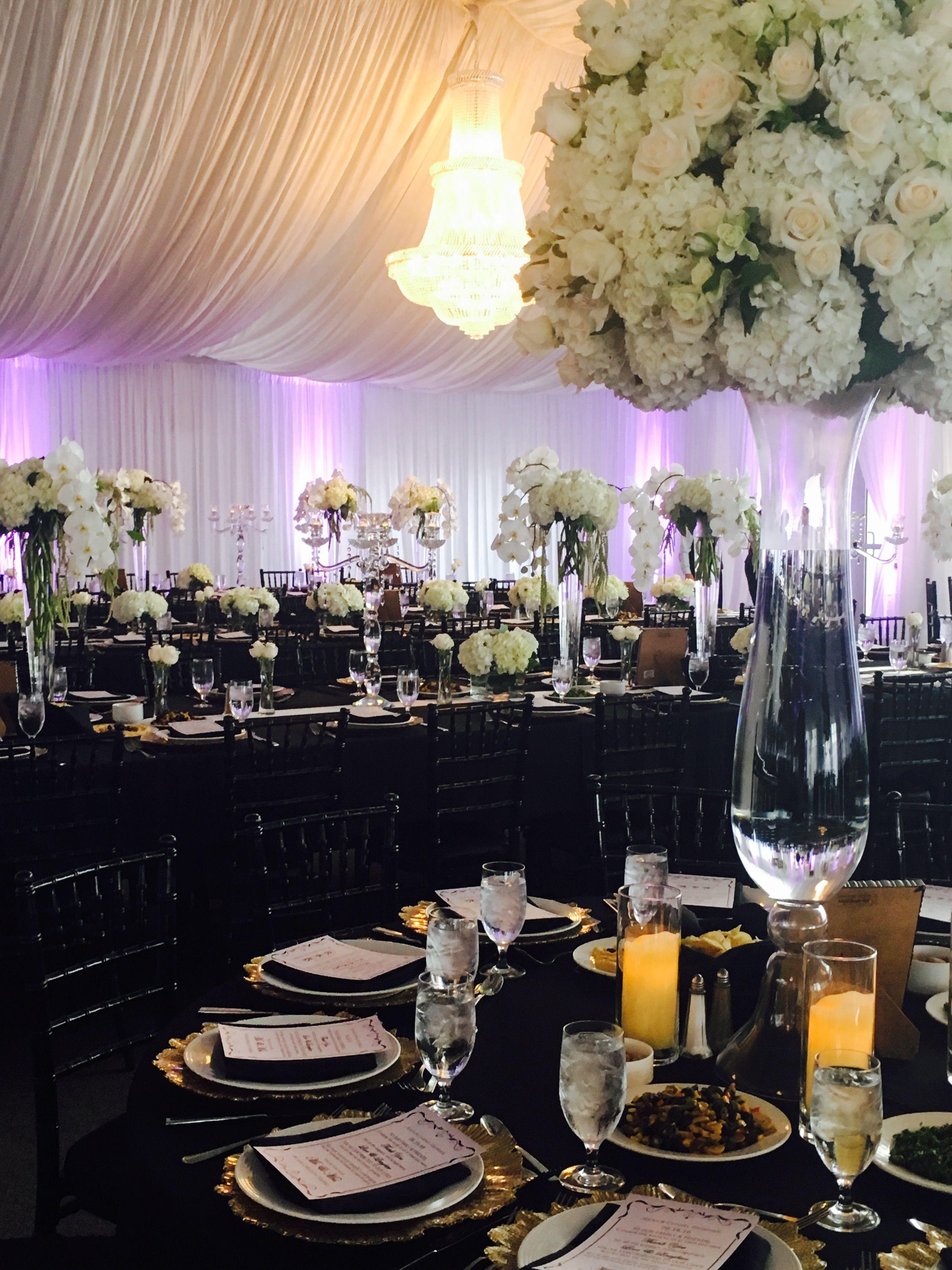 black white purple wedding reception%0A Black  u     White Wedding   Tent Weddings   Crystal Chandeliers   Hyatt Regency  Mission Bay