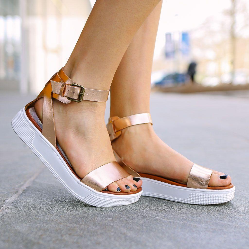0e85a729091 Ellen Platform Sandal - Rose Gold in 2019