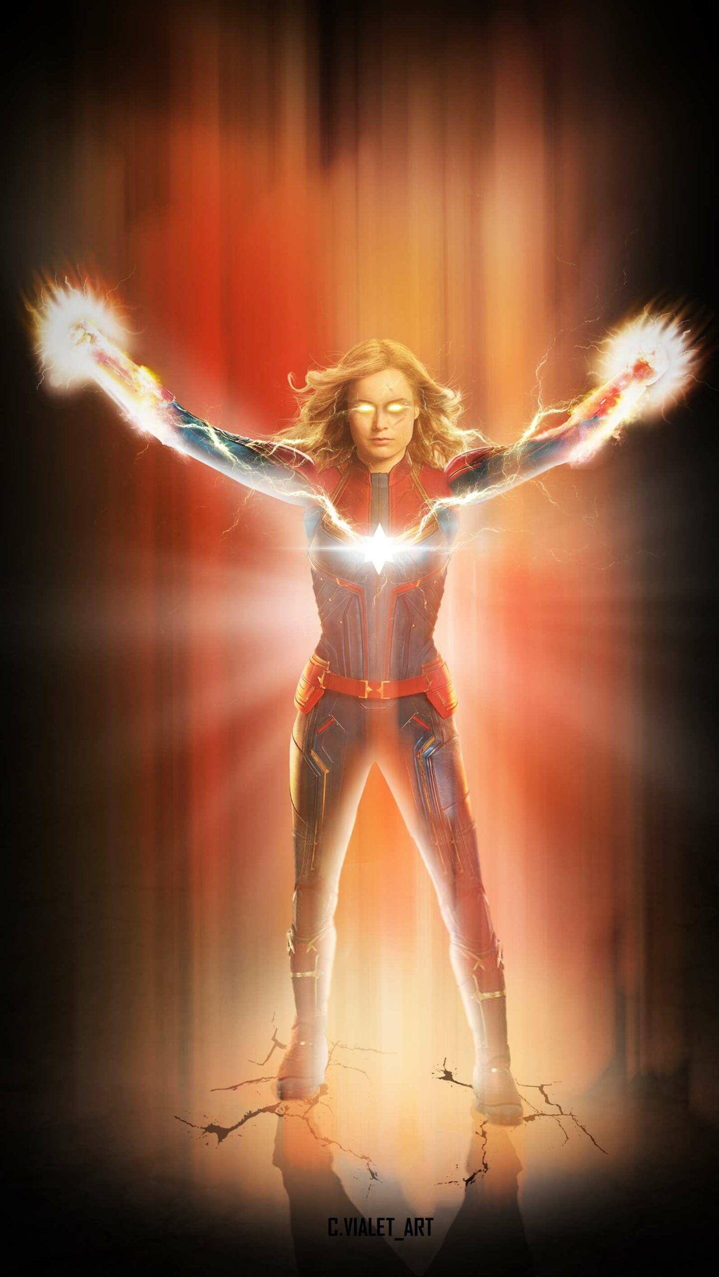 Captain Marvel Powers Iphone Wallpaper Captain Marvel Powers Captain Marvel Next Avengers