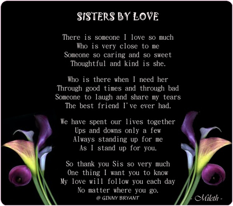 Sisters are Forever Dear sister, Birthday sweets and