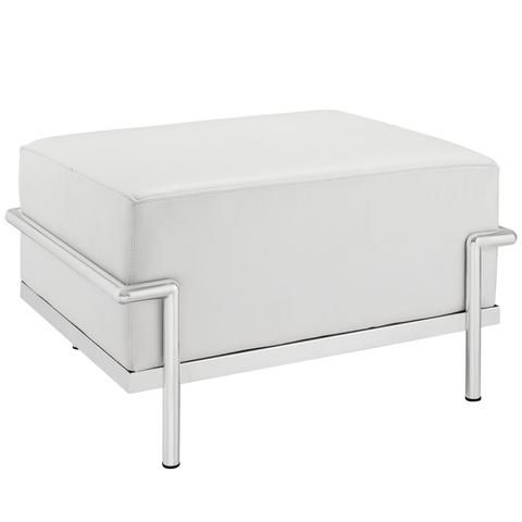 Buy Modway Le Corbusier Style LC3 Ottoman White Leather EEI-251-WHI ...