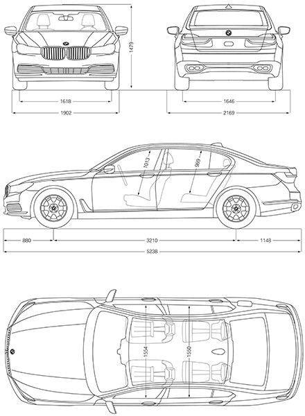 2017 Bmw M760 I Xdrive Blueprint Poster Sailboat Plans 2017
