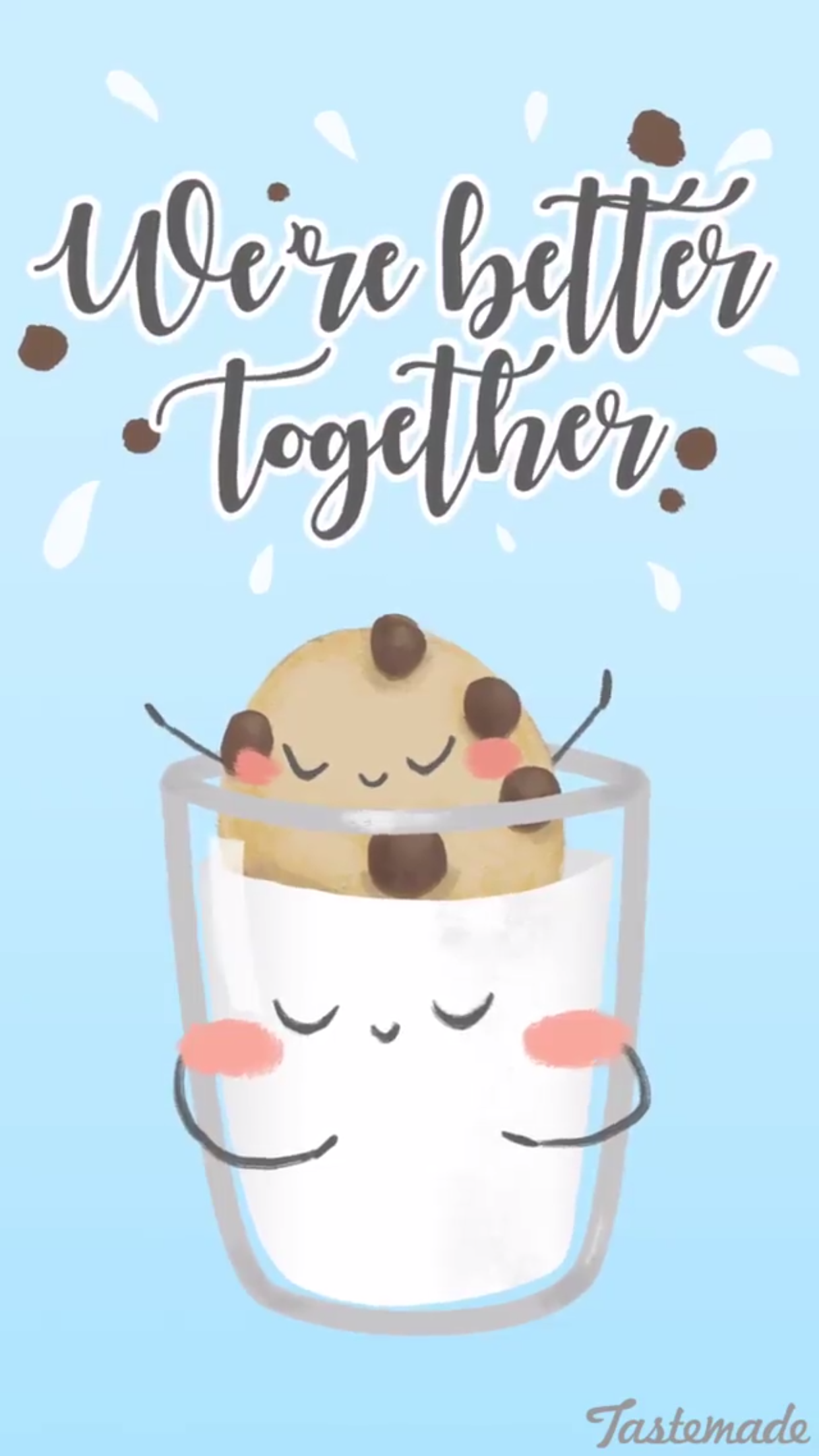 We Re Better Together Mike And Cookies Chocolate Chip Cookie Wallpaper Background Lock Screen For Cellphone Iphone Andr Funny Food Puns Funny Puns Cute Puns