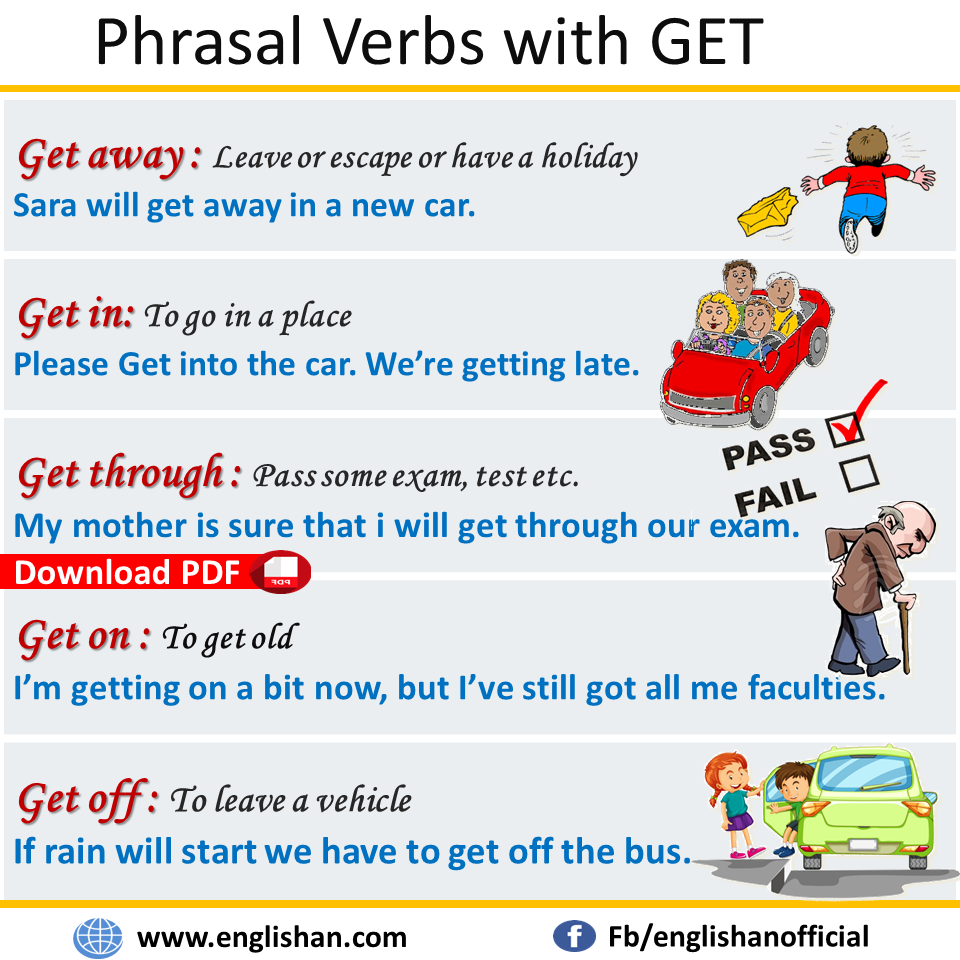 Phrasal Verbs With Get With Sentences And Meanings Download Pdf Lesson English Writing Skills Verb Sentences [ 960 x 960 Pixel ]