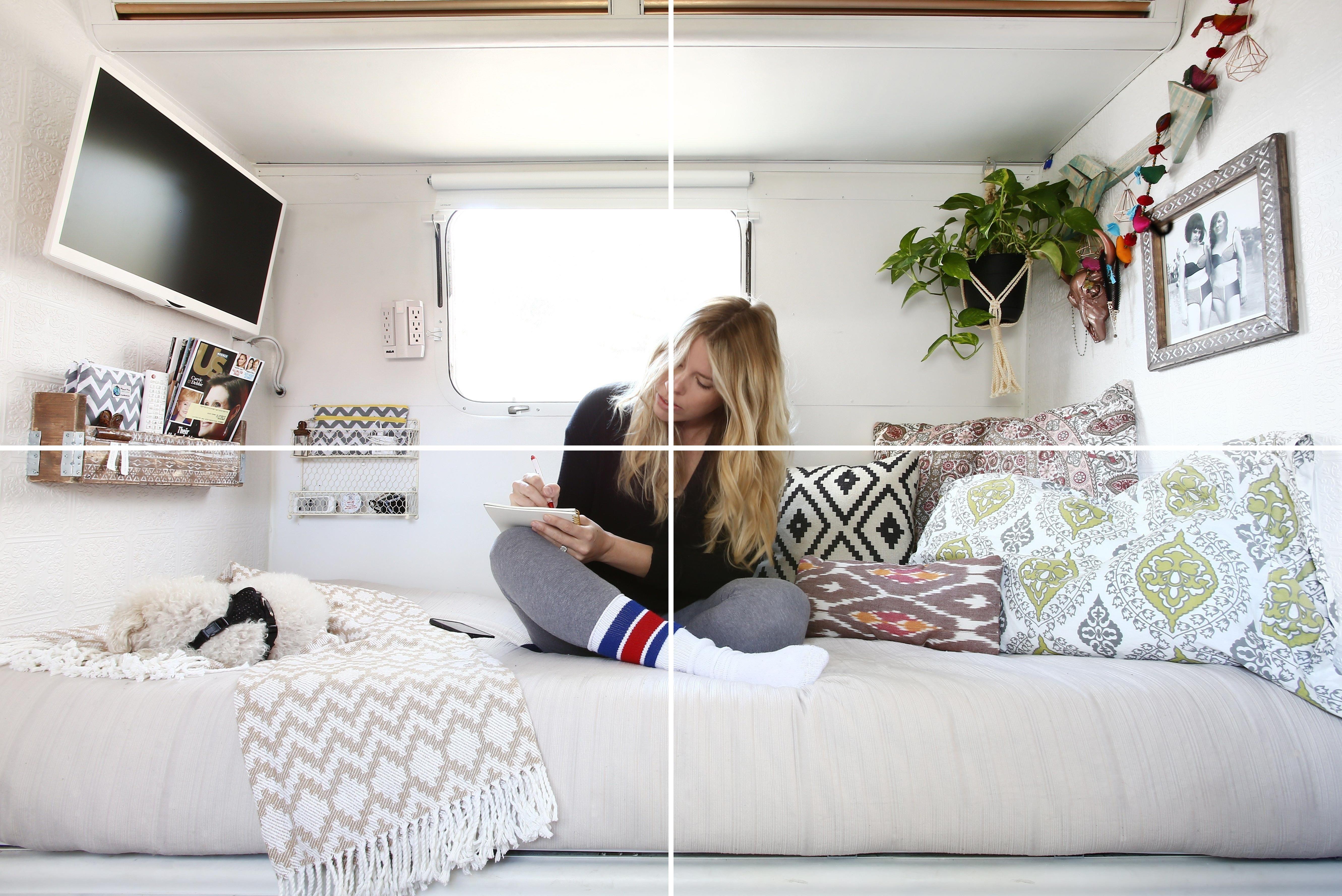 Home Bedroom Design Ideas For My Bedroom House Bedroom Ideas In 2020 Remodel Bedroom Vintage Camper Remodel Remodeled Campers
