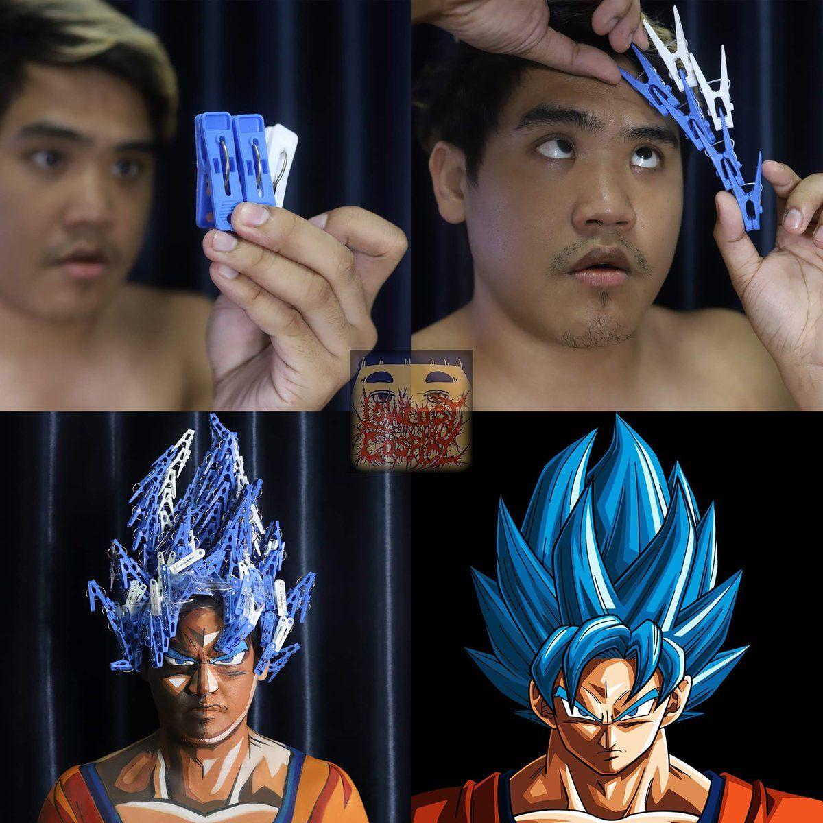 Hilarious Super Saiyan Blue Goku Cosplay On A Budget In 2020 Funny Cosplay Cosplay Anime Goku Cosplay