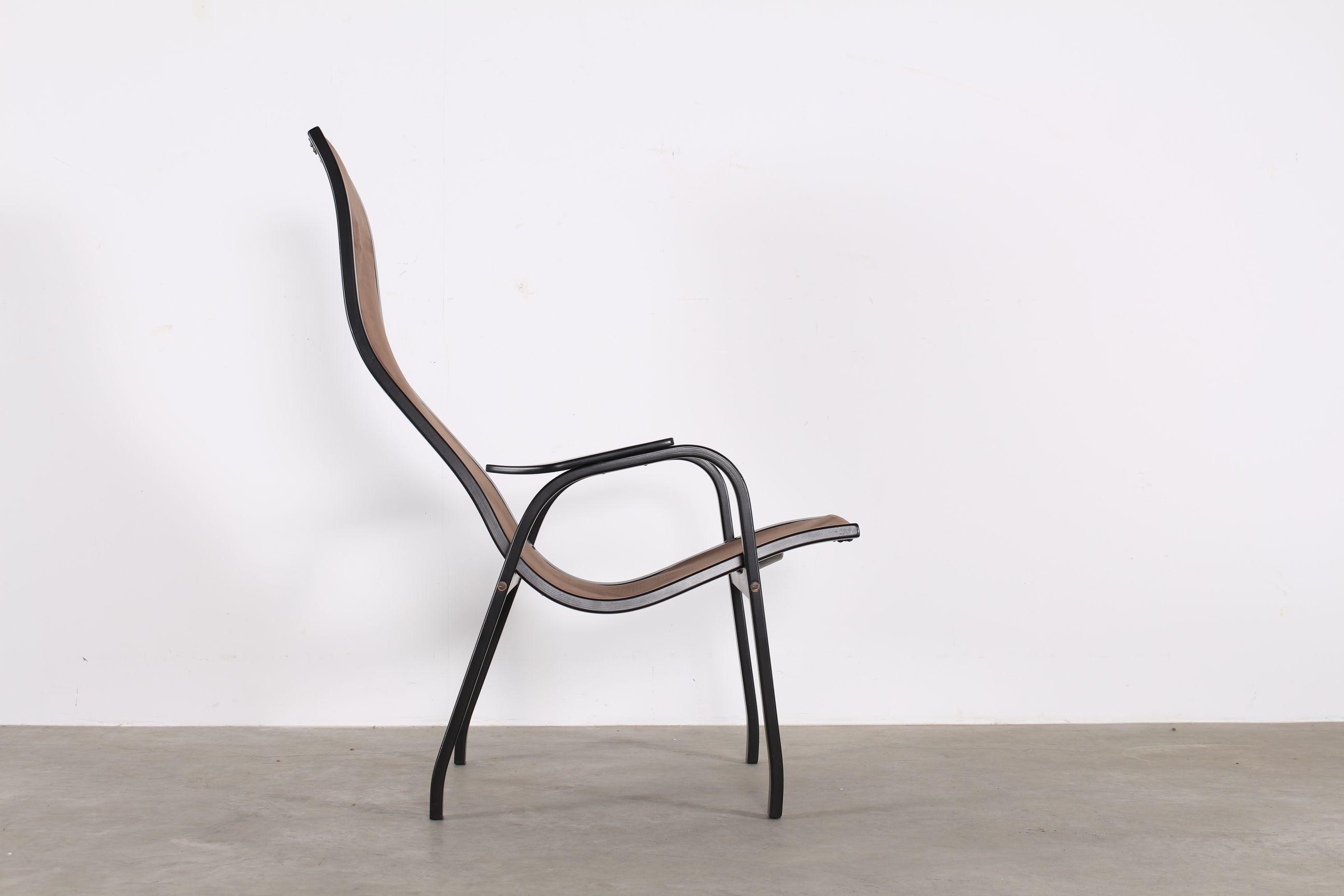 Yngve Ekstrom Lamino Leather Chair Swedese
