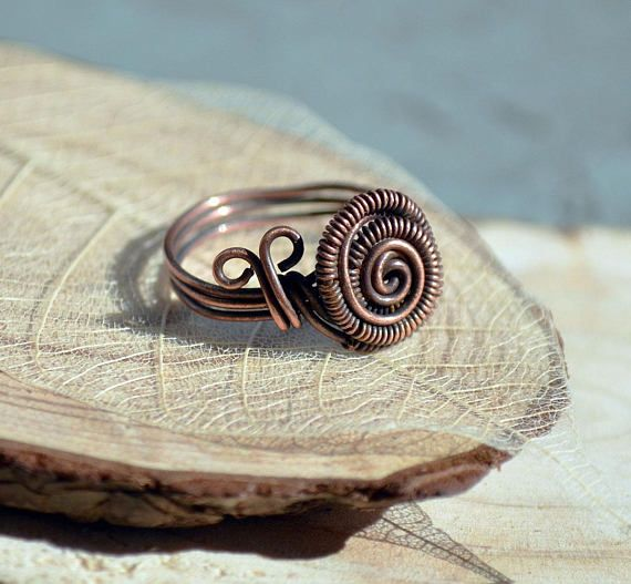 Cute copper snail ring | Handgefertigter Schmuck | Pinterest ...