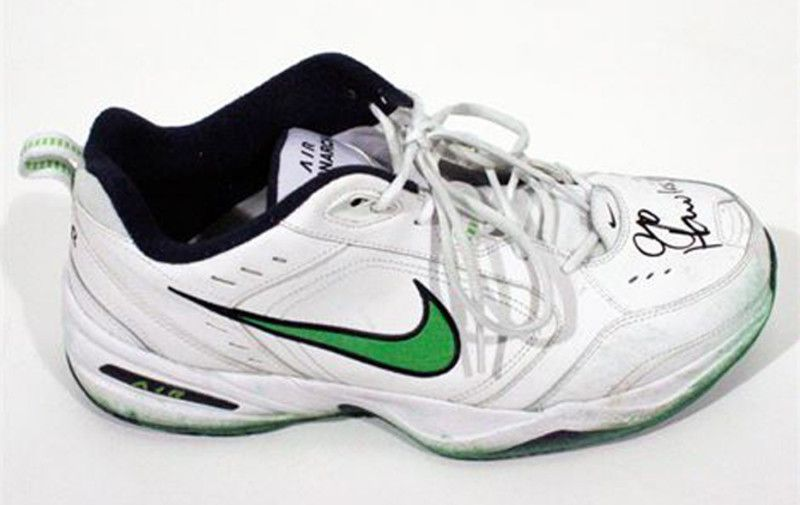 Pete Carroll's Game Worn Autographed Nike Air Monarchs Are Being