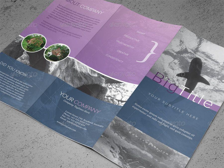 Tri-fold Brochure PSD Template GraphicRiver brochure Pinterest