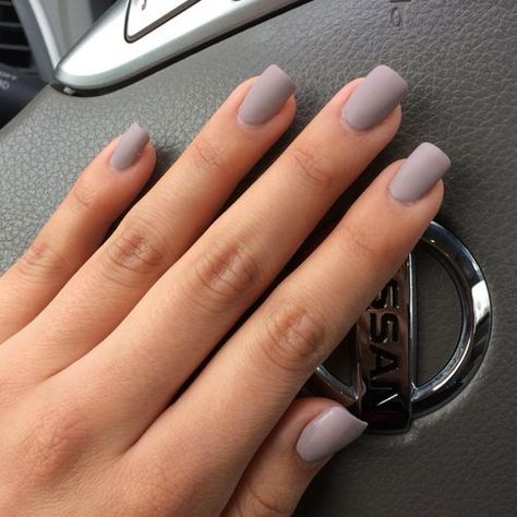 67 Best Matte Nails View Them All Right Here Http Www Nailmypolish Com Matte Nails Nailmypo Grey Acrylic Nails Grey Matte Nails Matte Acrylic Nails