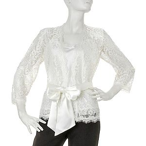 lace jacket with sash