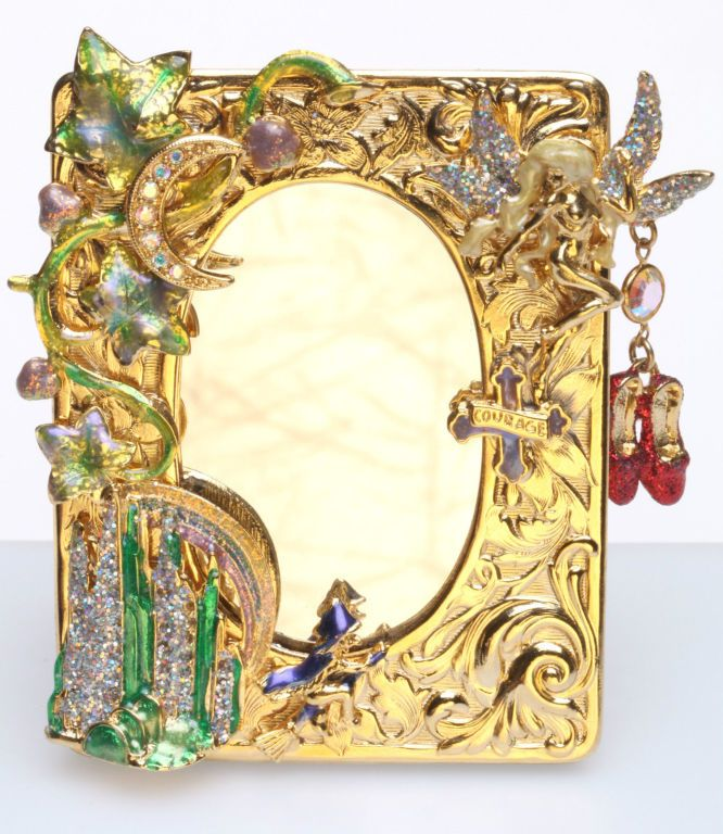 KIRKS FOLLY WIZARD OF OZ EMERALD CITY SMALL PICTURE FRAME goldtone ...