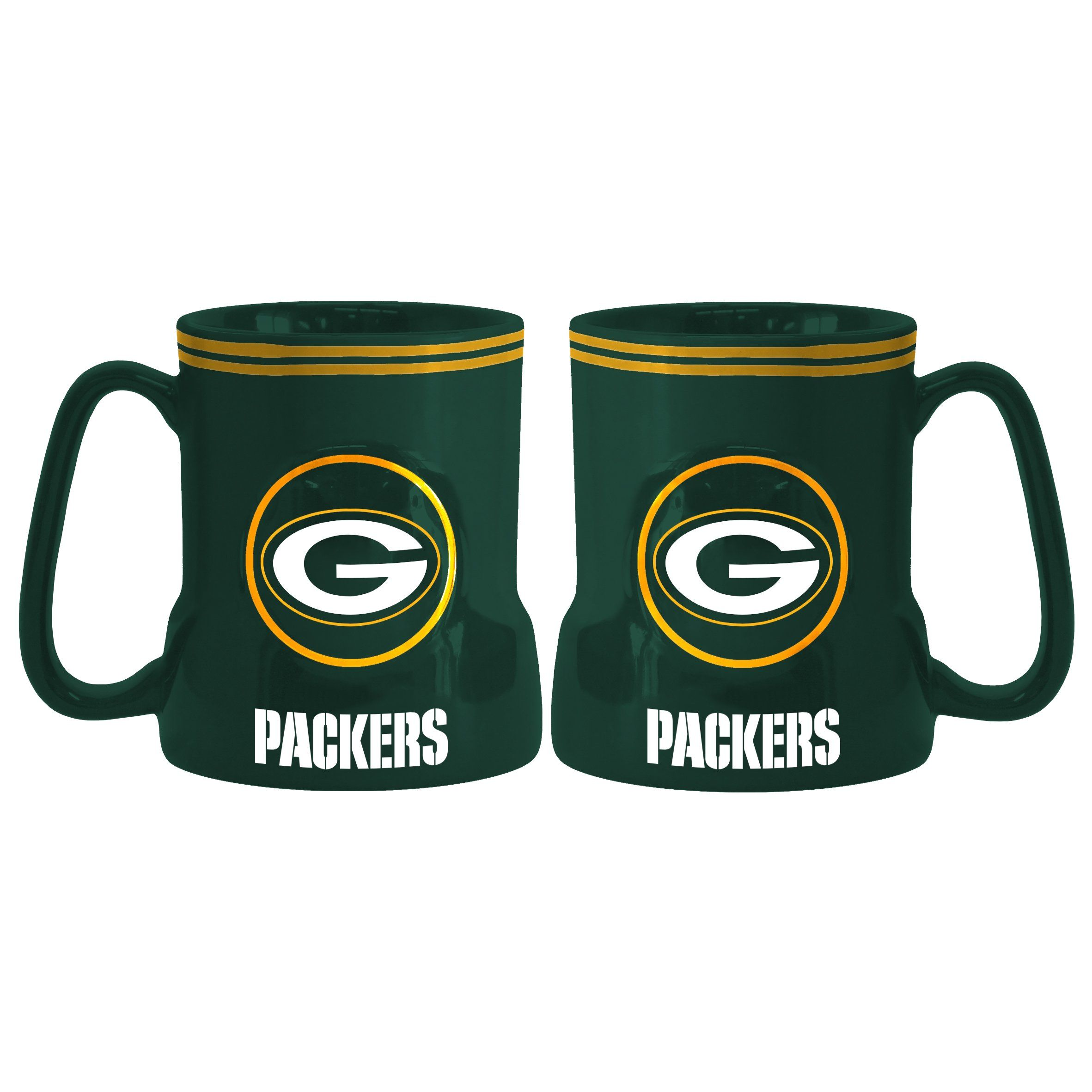 Green Bay Packers Coffee Mug 18oz Game Time New Handle Mugs Coffee Mugs Green Bay Packers