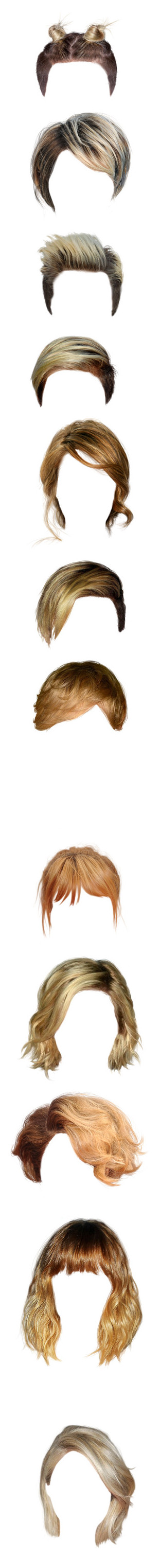 """""""hair only-2: blond hair"""" by poopsa-sympath ❤ liked on Polyvore featuring beauty products, haircare, hair styling tools, hair, wigs, blonde, doll parts, dolls, doll hair and hairstyles"""