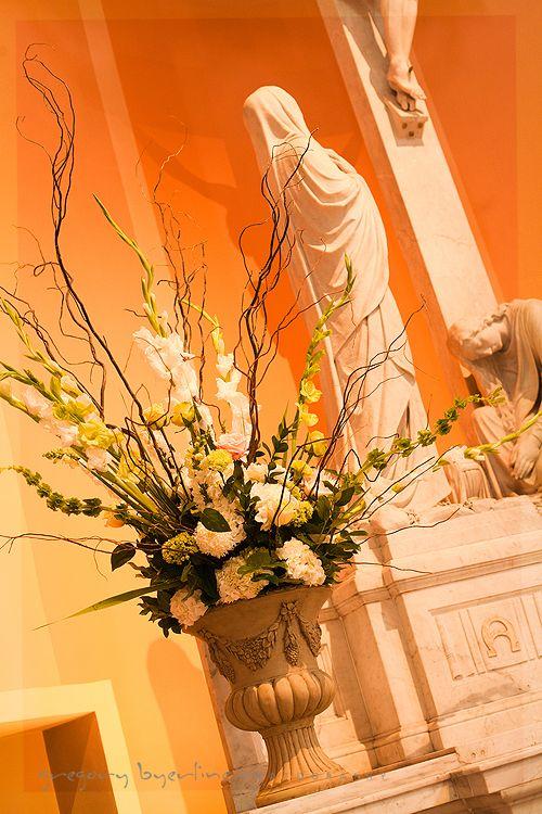 Altars Brocade Designs Easter Flower Arrangements Easter Floral Arrangement Church Flower Arrangements