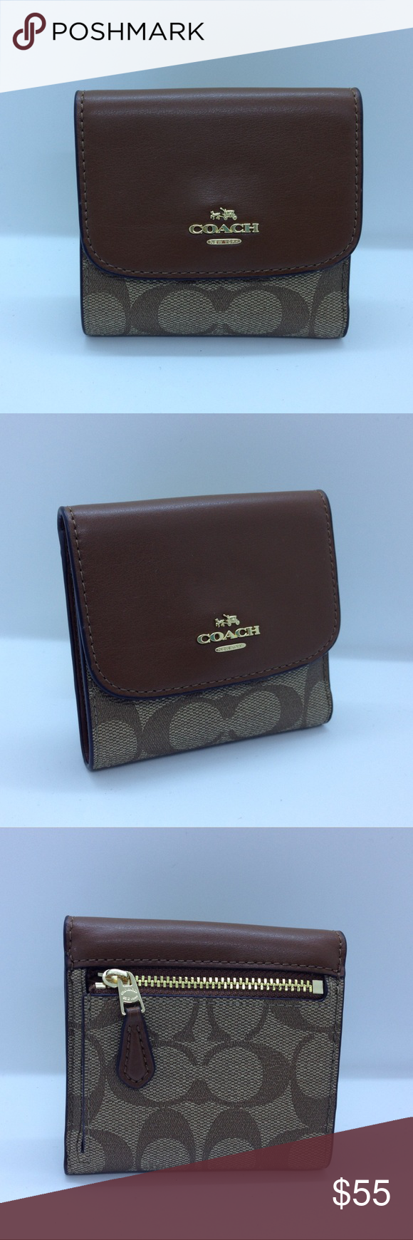 size 40 a9a7e 2663b Coach Signature PVS Small Wallet F87589 Brand New This is ...