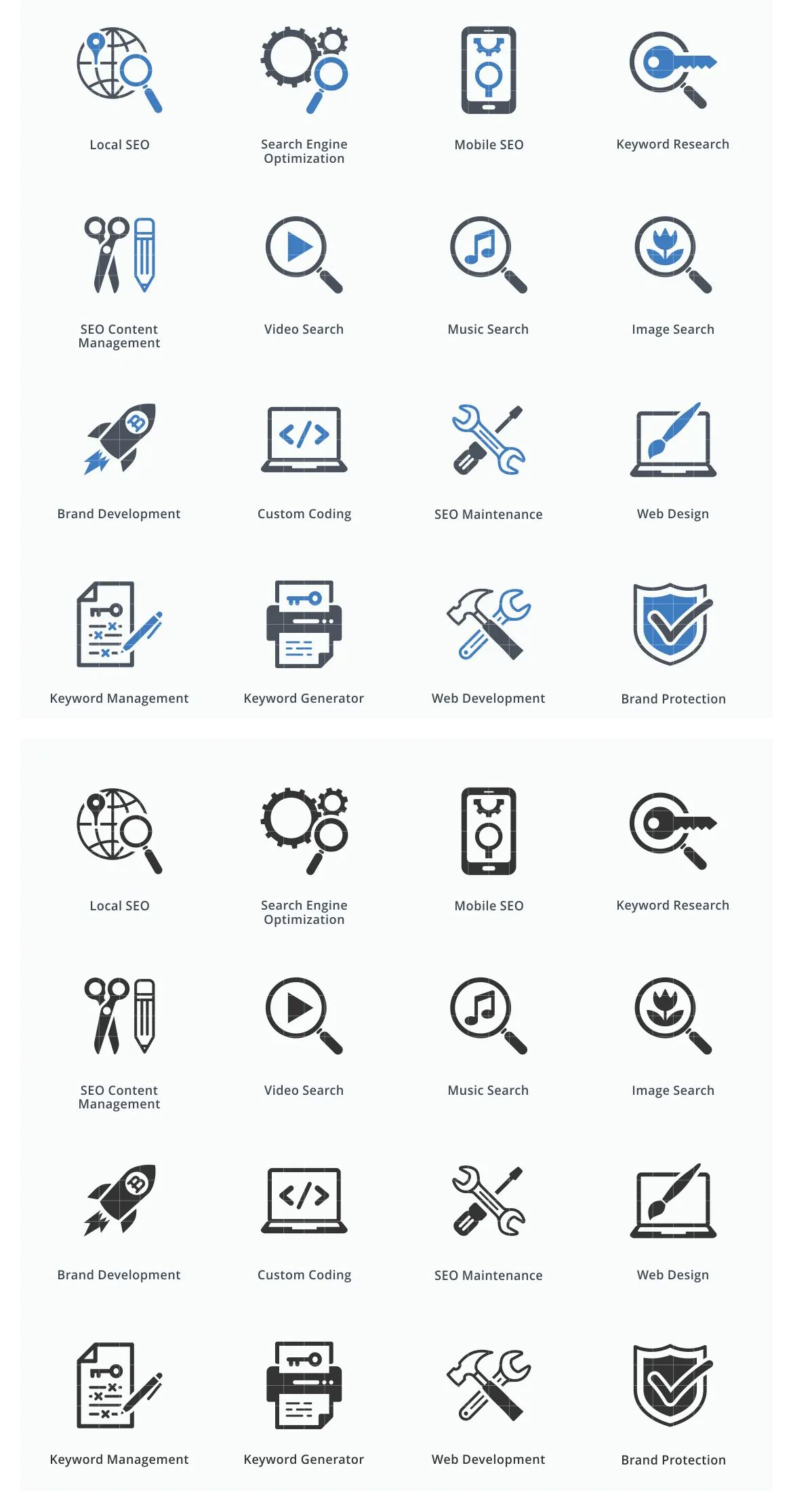 Seo Internet Marketing Icons Set 1 Blue Series By Introwiz1 On Marketing Icon Internet Marketing Icon Set