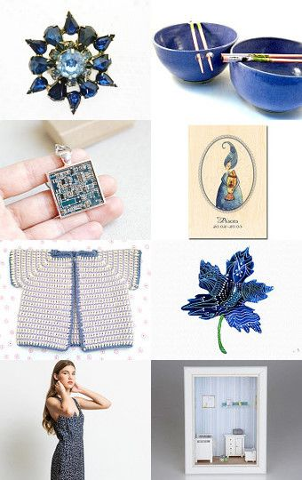 Blue collection by maya ben cohen on Etsy--Pinned with TreasuryPin.com