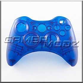 Clear Blue Custom Controller Shell For Xbox 360 Xbox 360 Xbox Xbox 360 Controller