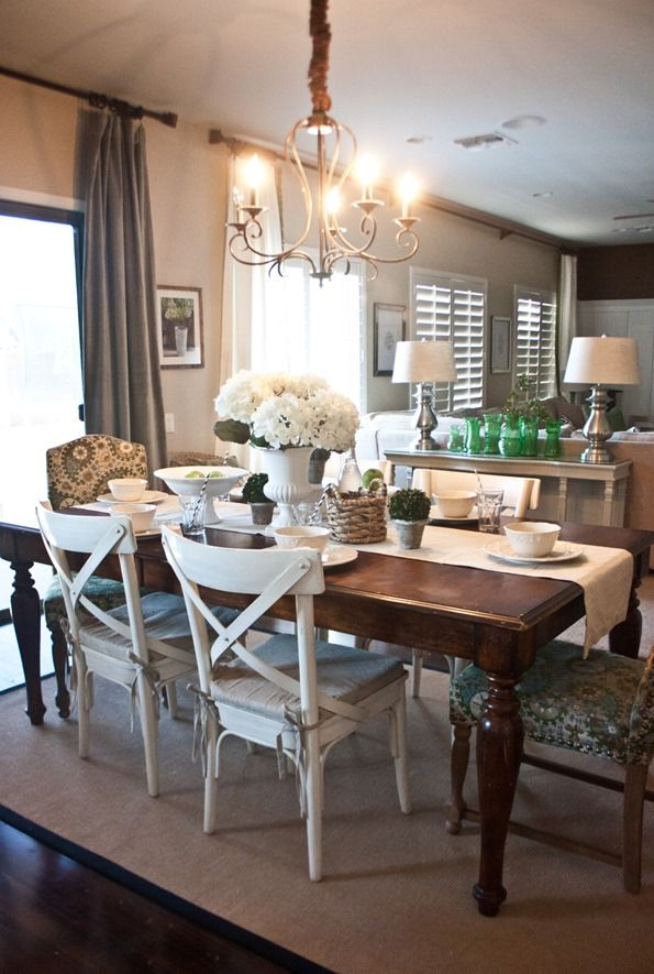 And People Keep Telling Me All My Wood Types And Colors Need To Match Not This Is Proof It S With Images Dining Room Decor Farmhouse Dining Room Dining Room Inspiration