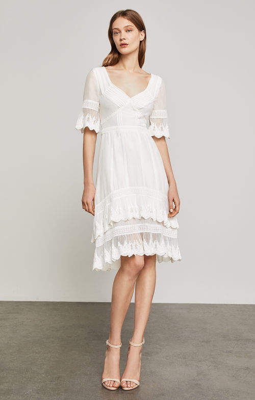 c8e6d742b1da7c BCBGMAXAZRIA Dell Embroidered Voile Dress | White Hot | Pinterest ...