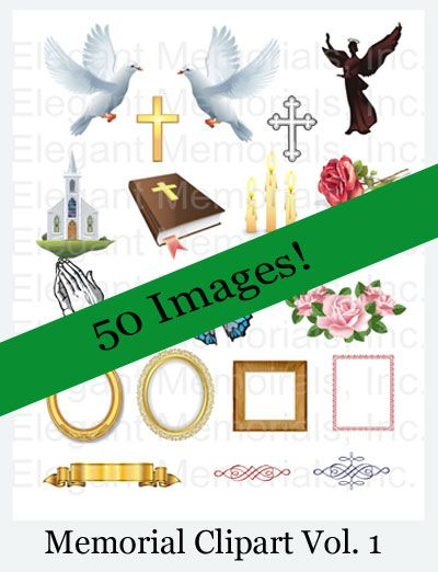 Funeral Program and Memorial Clipart Vol. 1 | Funeral, Programming ...