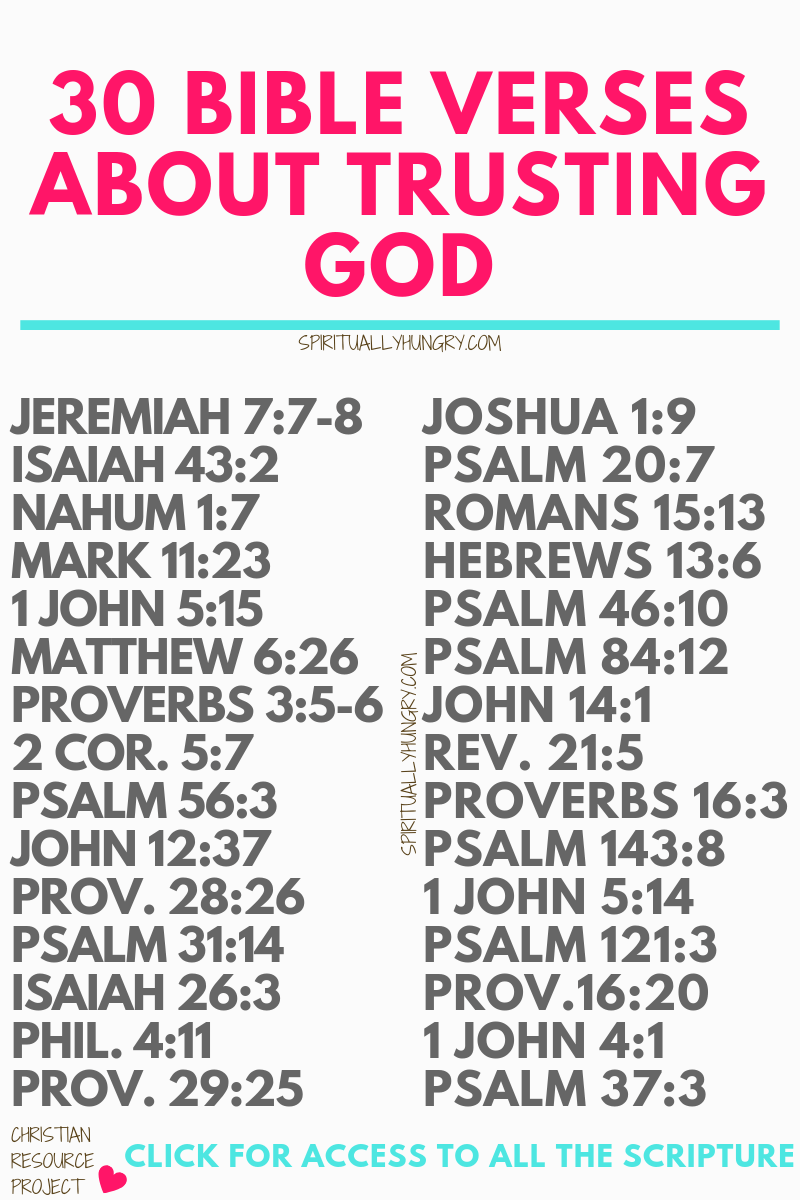30 Bible Verses About Trusting God With Graphics #bible