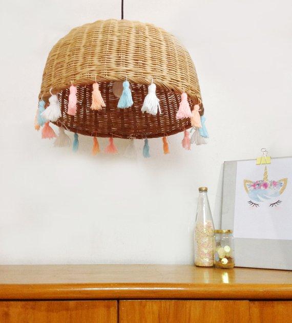 Unicorn Lamp Tel Chandelier Pastel