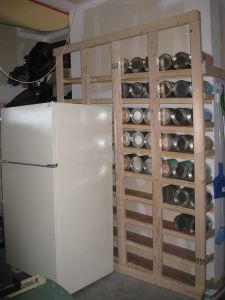 Rolling Can Storage Rack