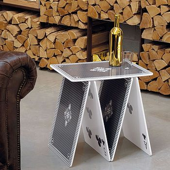 Playing Card Side Table Side Table Table Cards Contemporary