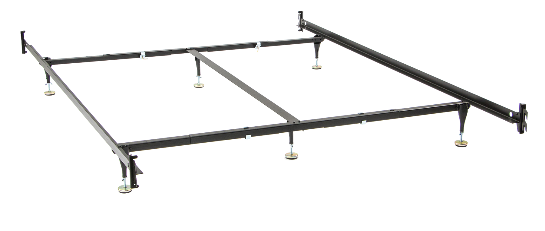 Queen or King Size Bed Rail Frame with 6 Legs King size
