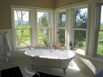 Farmhouse Style Bathroom Ideas Town Country Living I Just Love This With The Windows Surrounding Tub Gorgeous